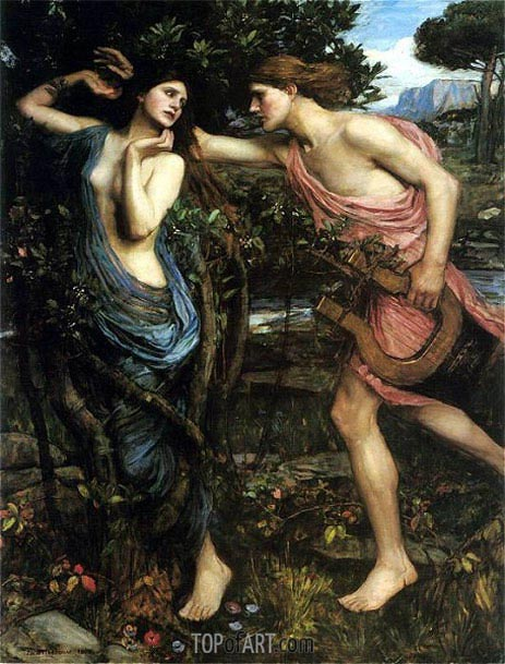 Apollo and Daphne, 1908 | Waterhouse | Gemälde Reproduktion