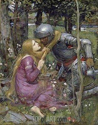 La Belle Dame Sans Merci, c.1892/93 | Waterhouse | Painting Reproduction