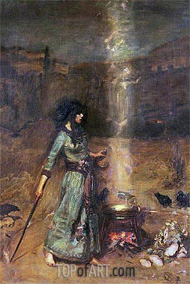 The Magic Circle,  | Waterhouse| Painting Reproduction