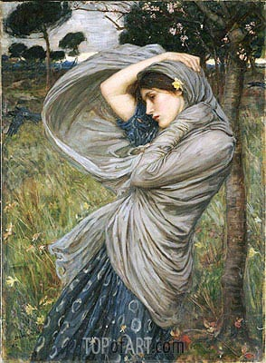 Boreas, 1903 | Waterhouse| Painting Reproduction