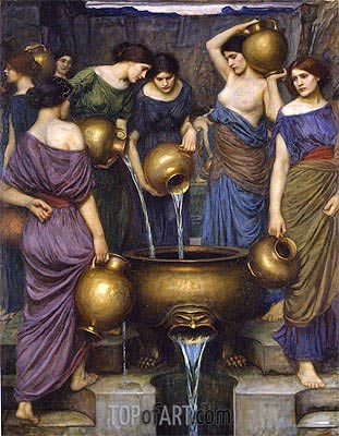 The Danaides, 1906 | Waterhouse | Painting Reproduction