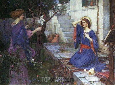 The Annunciation, 1914 | Waterhouse | Painting Reproduction