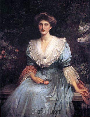 Lady Violet Henderson, 1907 | Waterhouse | Painting Reproduction