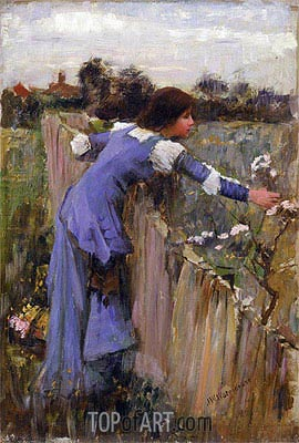 The Flower Picker, c.1900 | Waterhouse| Painting Reproduction
