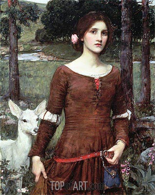 The Lady Clare, 1900 | Waterhouse | Painting Reproduction