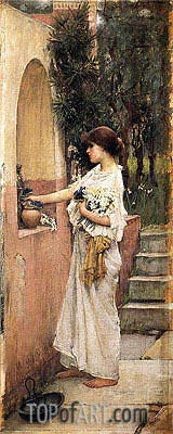 A Roman Offering, c.1891 | Waterhouse| Painting Reproduction
