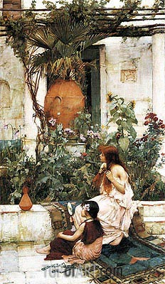 The Toilet (At Capri), 1889 | Waterhouse | Painting Reproduction