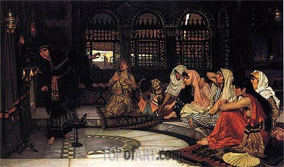 Consulting the Oracle, 1884 | Waterhouse| Painting Reproduction