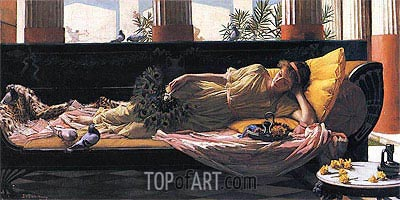 Dolce Far Niente, 1880 | Waterhouse| Painting Reproduction