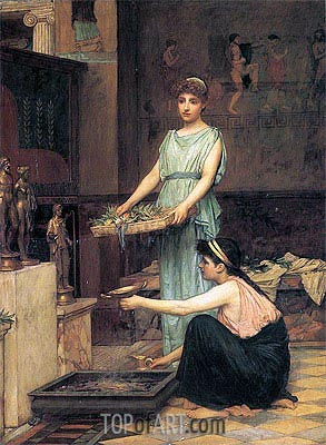 The Household Gods, 1880 | Waterhouse | Painting Reproduction