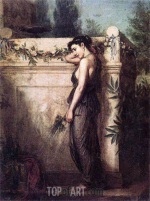 Gone, But Not Forgotten, 1873 | Waterhouse | Painting Reproduction