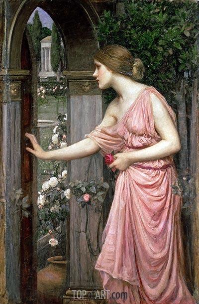 Waterhouse | Psyche Opening the Door into Cupid's Garden, 1904
