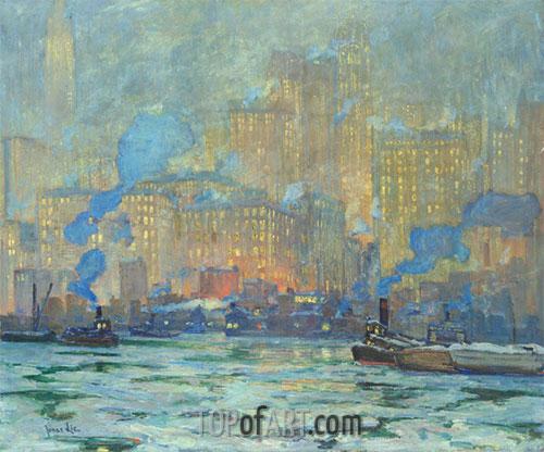 Jonas Lie | Afterglow, c.1913