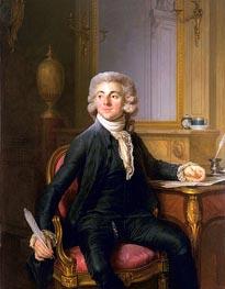 Portrait of a Gentleman (Jean-Baptiste-Francois Dupre), c.1782 von Joseph-Siffred Duplessis | Gemälde-Reproduktion