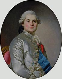 Portrait of Louis of France, Count of Provence, future King Louis XVIII, 1778 by Joseph-Siffred Duplessis | Painting Reproduction