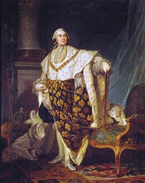 Louis XVI King of France in Coronation Robes, 1777 by Joseph-Siffred Duplessis | Painting Reproduction