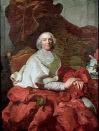 Cardinal Andre Hercule de Fleury, Bishop of Fregus and Prime Minister to Louis XV, Undated by Joseph-Siffred Duplessis | Painting Reproduction