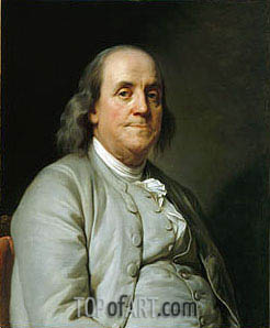 Benjamin Franklin, c.1785 | Joseph-Siffred Duplessis | Painting Reproduction