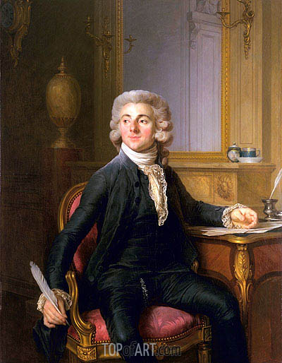Portrait of a Gentleman (Jean-Baptiste-Francois Dupre), c.1782 | Joseph-Siffred Duplessis | Painting Reproduction