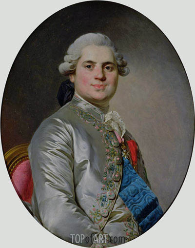 Portrait of Louis of France, Count of Provence, future King Louis XVIII, 1778 | Joseph-Siffred Duplessis | Painting Reproduction