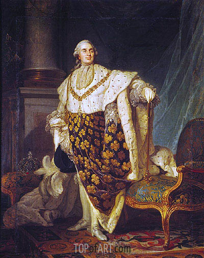 Louis XVI King of France in Coronation Robes, 1777 | Joseph-Siffred Duplessis | Painting Reproduction