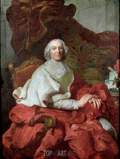 Cardinal Andre Hercule de Fleury, Bishop of Fregus and Prime Minister to Louis XV,  | Joseph-Siffred Duplessis | Painting Reproduction
