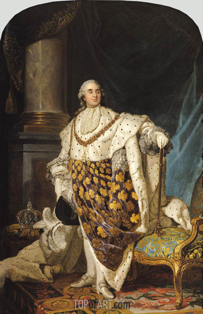 Louis XVI in Coronation Robes, a. 1774 | Joseph-Siffred Duplessis | Painting Reproduction