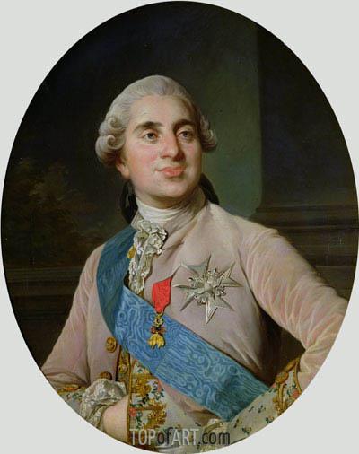 Joseph-Siffred Duplessis | Portrait medallion of Louis XVI, 1775