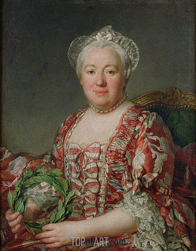 Portrait of Madame Denis,  | Joseph-Siffred Duplessis | Painting Reproduction