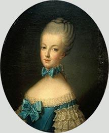 Portrait of Marie Antoinette de Habsbourg-Lorraine, undated von Joseph Ducreux | Gemälde-Reproduktion