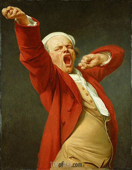 Self Portrait Yawning, c.1780 | Joseph Ducreux | Painting Reproduction