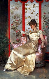 Lady Reading, Undated by Soulacroix | Painting Reproduction