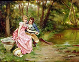 The Lovers, Undated by Soulacroix | Painting Reproduction