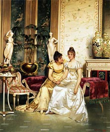 A Shared Confidence, Undated by Soulacroix | Painting Reproduction