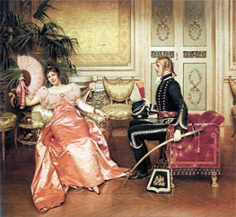 Flirtation, Undated by Soulacroix | Painting Reproduction