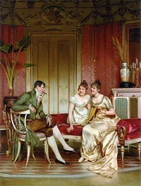 The Afternoon Visitor, Undated by Soulacroix | Painting Reproduction