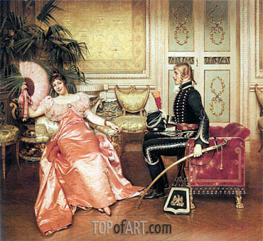 Flirtation,  | Soulacroix | Painting Reproduction