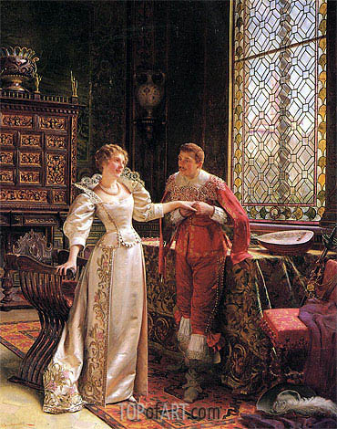 The Marriage Proposal,  | Soulacroix | Painting Reproduction