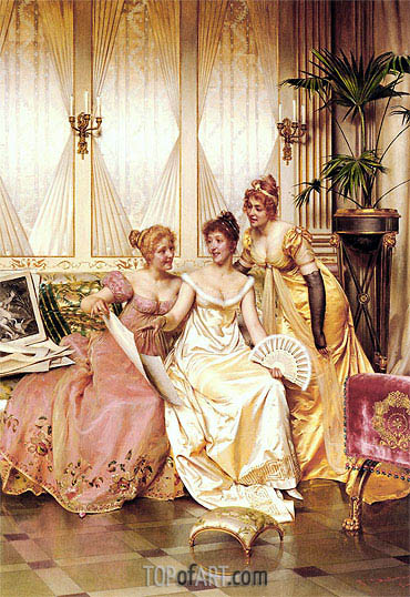 The Three Connoisseurs,  | Soulacroix | Painting Reproduction
