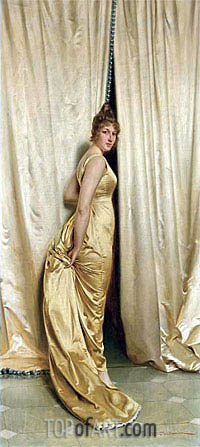 The Yellow Dress,  | Soulacroix | Painting Reproduction