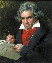 Portrait of Beethoven, 1820 by Joseph Karl Stieler | Painting Reproduction