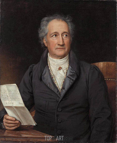 Portrait of Johann Wolfgang von Goethe, 1828 | Joseph Karl Stieler | Painting Reproduction
