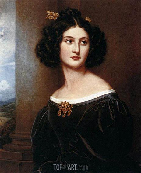 Joseph Karl Stieler | Portrait of Nanette Heine nee Kaula, 1829