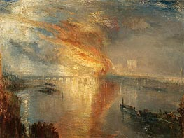 The Burning of the Houses of Lords and Commons, 16 October 1834 | J. M. W. Turner | Painting Reproduction