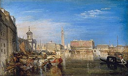 Bridge of Sighs, Ducal Palace and Custom House, Venice | J. M. W. Turner | Painting Reproduction