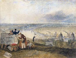 View of London from Greenwich, 1825 by J. M. W. Turner | Painting Reproduction