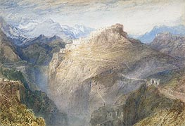 Fort of L'Essillon, Val de la Maurienne, France, 1836 by J. M. W. Turner | Painting Reproduction