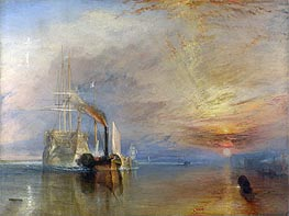 The Fighting Temeraire, 1839 by J. M. W. Turner | Painting Reproduction