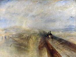 Rain, Steam and Speed - The Great Western Railway, 1844 by J. M. W. Turner | Painting Reproduction