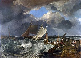 Calais Pier with French Poissards Preparing for Sea: an English Packet Arriving, 1803 von J. M. W. Turner | Gemälde-Reproduktion